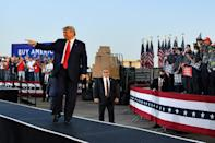 US President Donald Trump, pictured at an election rally in Dayton, Ohio, addressed the United Nations General Assembly by video