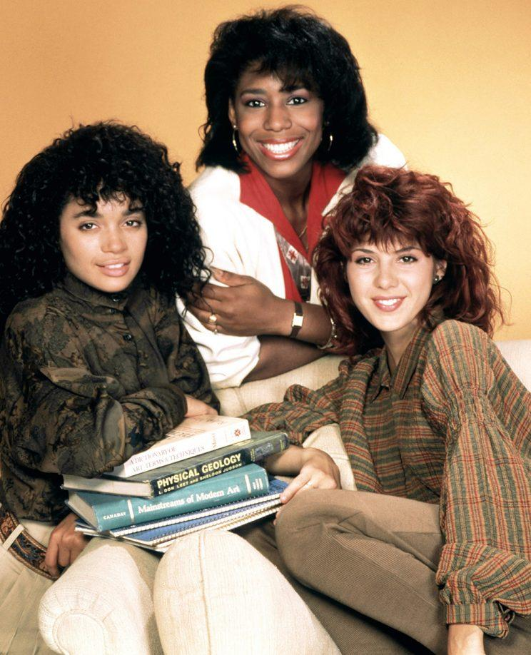 Lisa Bonet, Dawnn Lewis, Marisa Tomei in 'A Different World' (Credit: Everett Collection)