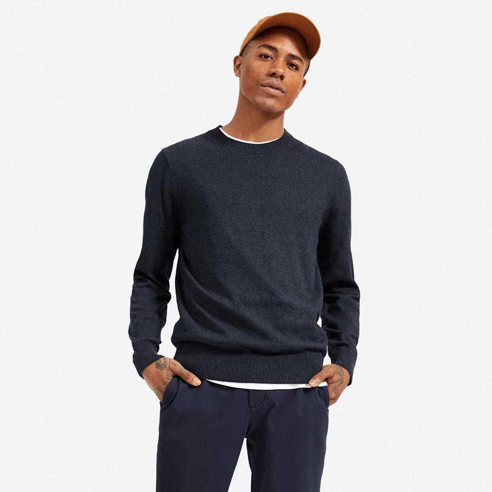 <p>If they're always hot, this <span>Everlane The No-Sweat Sweater</span> ($64) will be a game changer.</p>