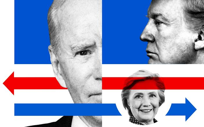 Just how much better is Biden performing in the polls than Trump's last challenger, Hillary Clinton?