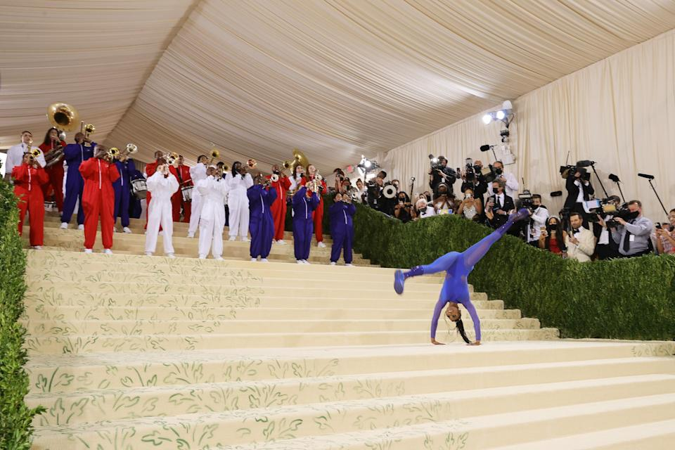 """<h1 class=""""title"""">Gymnast Nia Dennis, The 2021 Met Gala Celebrating In America: A Lexicon Of Fashion - Arrivals</h1><cite class=""""credit"""">Getty</cite>"""