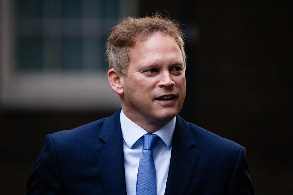 Secretary of State for Transport Grant Shapps, Conservative Party MP for Welwyn Hatfield, arrives on Downing Street for the weekly cabinet meeting, currently being held at the Foreign, Commonwealth and Development Office (FCDO), in London, England, on October 20, 2020. (Photo by David Cliff/NurPhoto via Getty Images)