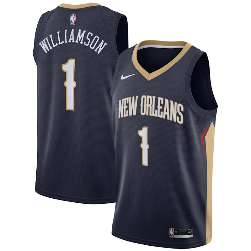 Zion Pelicans 2019 NBA Draft First Round Pick Jersey