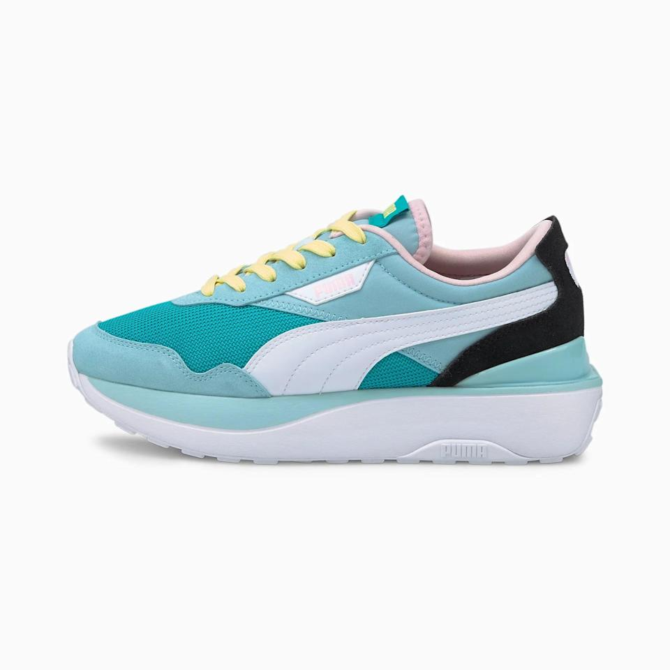 <p>These <span>Puma Cruise Rider Sneakers</span> ($85) are so fun. They're a great way to add a pop of color to any look.</p>