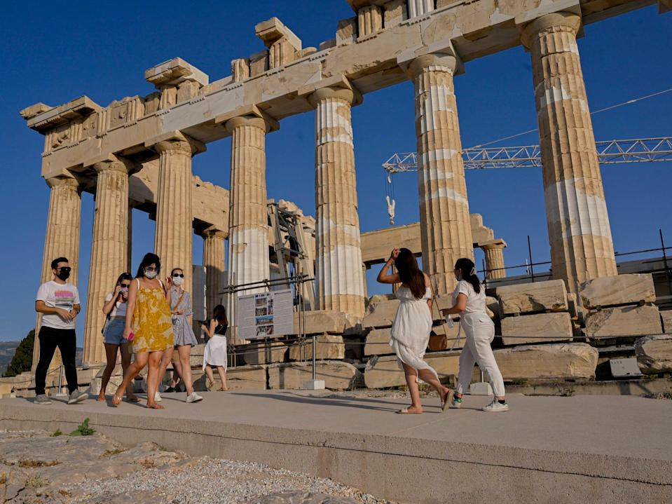 Parthenon in Athens, Greece June 2021