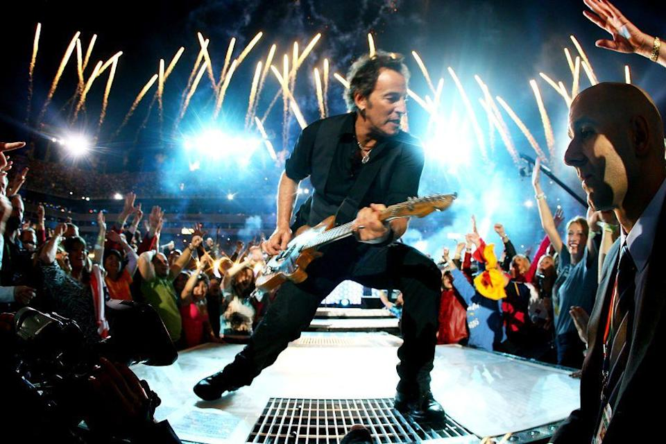 """<p>Springsteen wore all black for his live show.</p><p><a class=""""link rapid-noclick-resp"""" href=""""https://www.youtube.com/watch?v=i4-0nbHFi4o&ab_channel=HalfTimeSuperBowl"""" rel=""""nofollow noopener"""" target=""""_blank"""" data-ylk=""""slk:WATCH NOW"""">WATCH NOW</a></p>"""