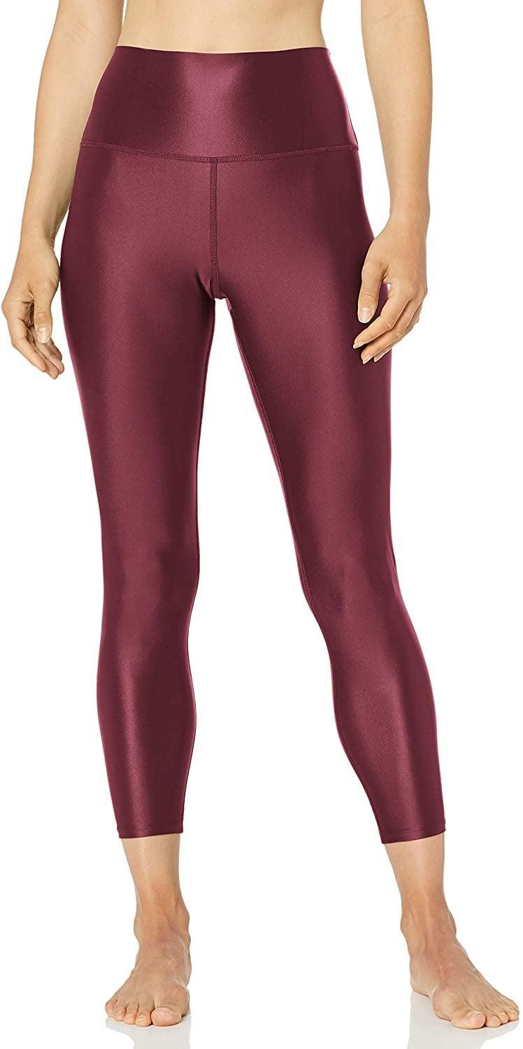 <p>The color of these <span>Core 10 Icon Series Liquid Shine High Waist Yoga 7/8 Crop Leggings</span> ($32) are so cool.</p>