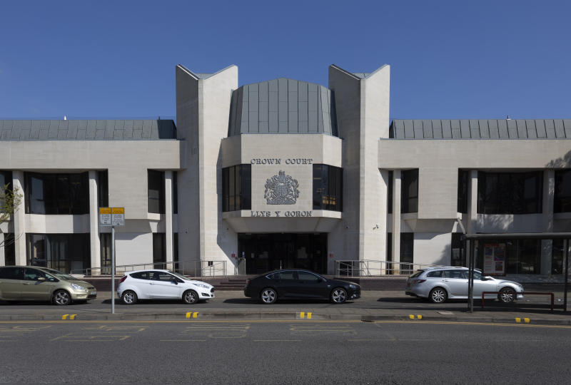 Editorial Swansea, UK - April 12, 2019: A first tier Crown Court. The Court was part of the Wales and Chester Circuit and included the courts at Haverfordwest and Carmarthen