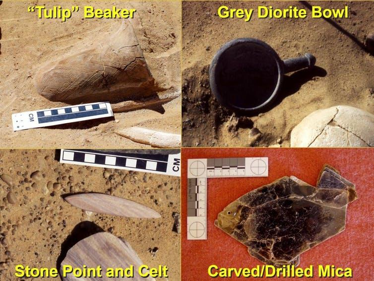 """<span class=""""caption"""">Grave artefacts from 2001-2003 excavations.</span> <span class=""""attribution""""><span class=""""license"""">Author provided</span></span>"""