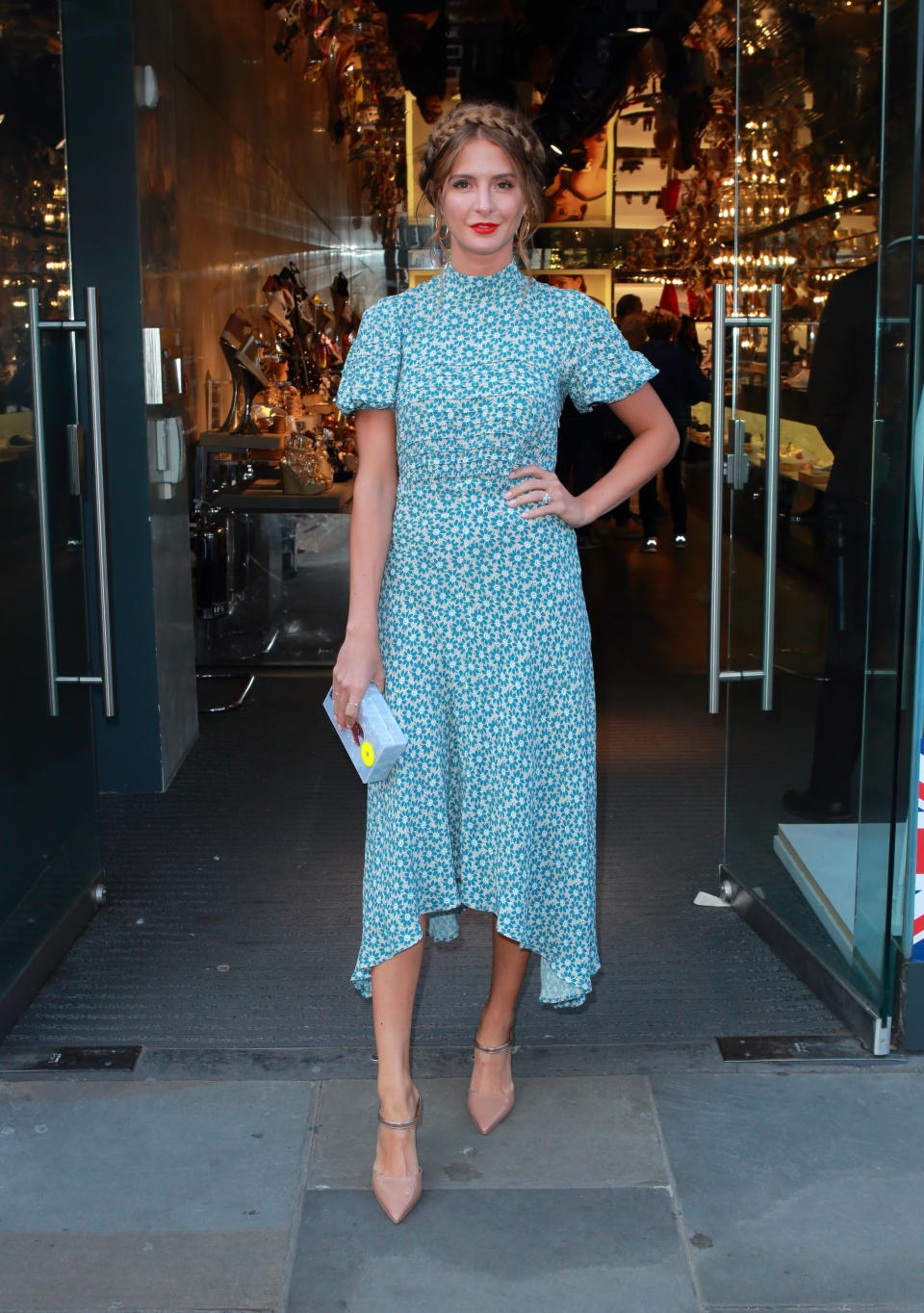 <p>For an event at the Kurt Geiger store in Covent Garden on May 17, Millie Mackintosh demonstrated how to rock spring florals and now we need to get our hands on this dress. <em>[Photo: Getty]</em> </p>