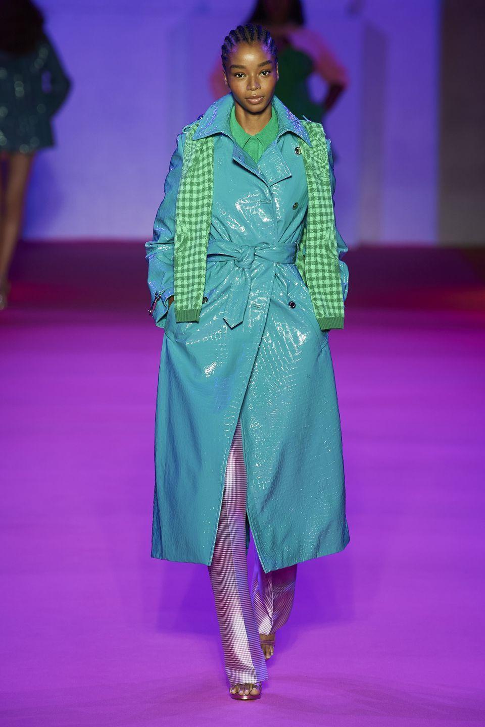 """<p>Brandon Maxwell returned to the catwalk with a bang, presenting a collection that was filled with colour, which is usual for the designer, but also filled with prints, which is something new. </p><p>""""I realised a year-and-a-half ago it could be the last time, and if I had another chance to show, I wanted it to be me, the me my friends know,"""" Maxwell said backstage of his decision to inject a bit more of himself into the collection, which saw less gowns and eveningwear than we often find on his catwalk and more casual, wearable styles, including midi dresses, printed separates and some seriously amazing coats.</p>"""