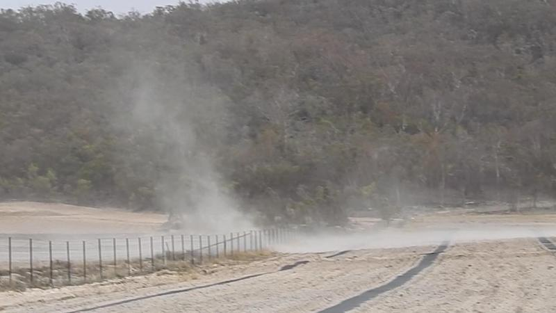No grass to be seen as paddocks have turned to dust. Source: Jenny Hillman