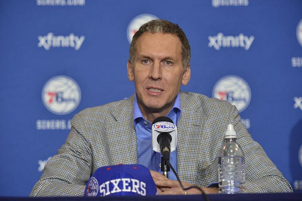 Philadelphia 76ers president Bryan Colangelo has a whole lot of questions to answer. (Getty Images)