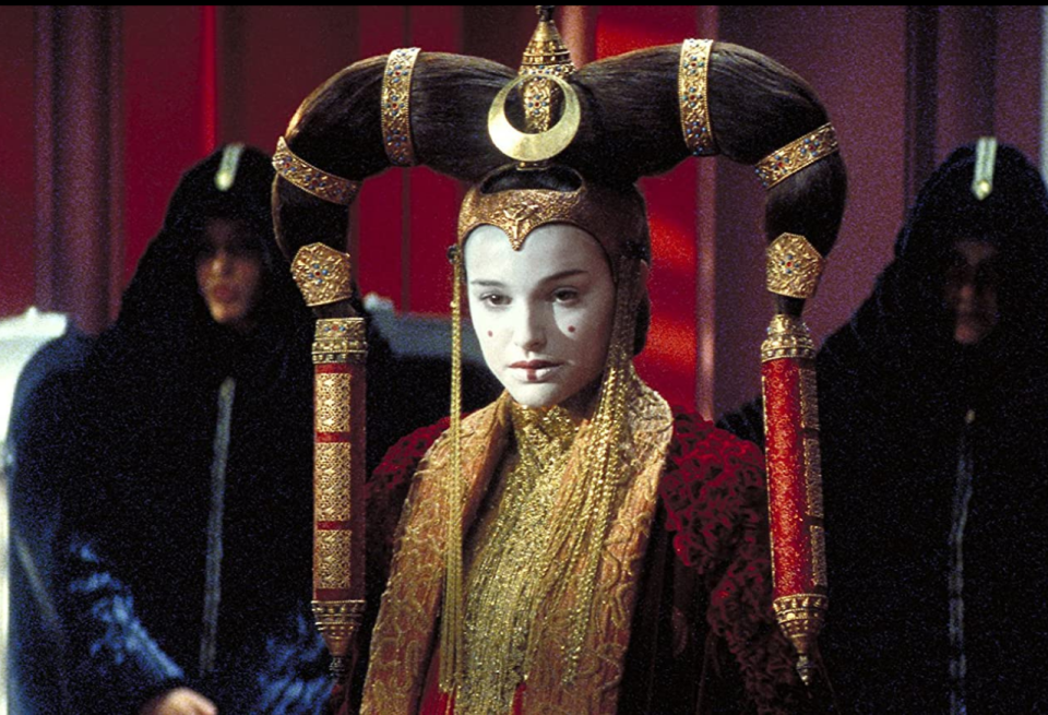 <p>Ruler of Naboo, and mother to Luke and Leia, Padmé was featured in the prequel movies, <em>The Phantom Menace, Attack of the Clones</em> and and <em>Revenge of the Sith. </em>During the course of those movies she wore the most outrageously over-the-top wardrobe that was fit for a queen. </p>