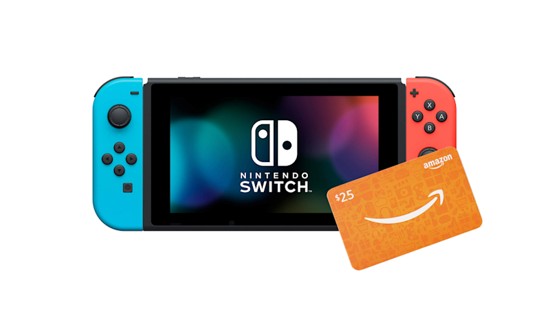 Get a free $25 Amazon gift card with Nintendo Switch. (Photo: Amazon)