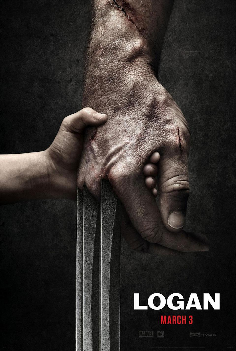 <p>The teaser poster for Hugh Jackman's last Wolverine film is pretty cool, but when you factor in the the width of a grown man's hands, the anatomical impossibility of the child's freakishly long fingers becomes difficult to ignore. (Credit: 20th Century Fox) </p>