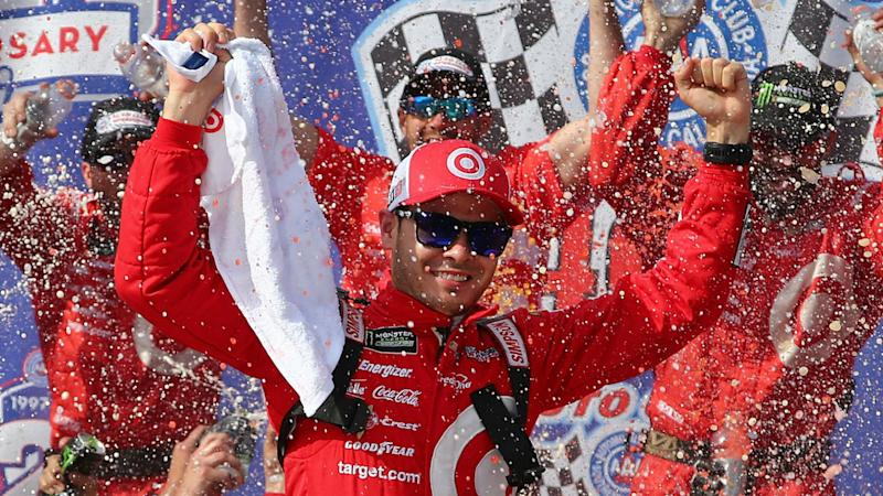 Larson stays red hot with Auto Club 400 win