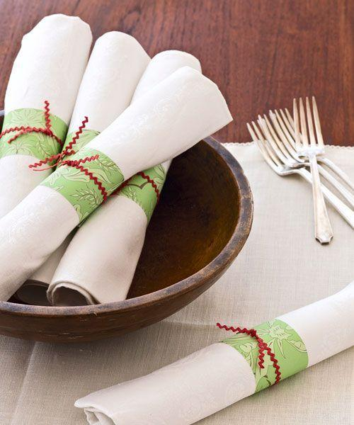 """<p>Take a bit of gift wrap scrap to dress up rolled napkins for your buffet.<span class=""""redactor-invisible-space""""><br></span></p><p><span class=""""redactor-invisible-space""""><a class=""""link rapid-noclick-resp"""" href=""""https://www.amazon.com/Monstera-Jungle-Tropical-Wrapping-3-Sheets/dp/B07D7LQ83L/ref=sr_1_10?tag=syn-yahoo-20&ascsubtag=%5Bartid%7C10055.g.2196%5Bsrc%7Cyahoo-us"""" rel=""""nofollow noopener"""" target=""""_blank"""" data-ylk=""""slk:SHOP WRAPPING PAPER"""">SHOP WRAPPING PAPER</a> </span><br></p>"""