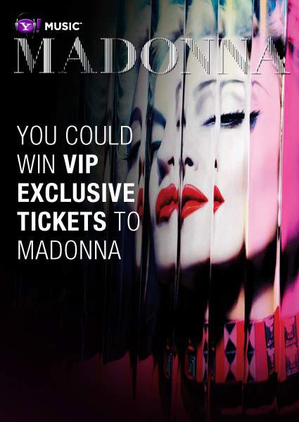 Want to see some outrageous outfits live? You could win tickets to Madonna's upcoming world tour! Click here to Enter Now! Read the Official rules