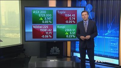Asian markets opened mixed on Tuesday following a 3-day losing streak in the Nasdaq.