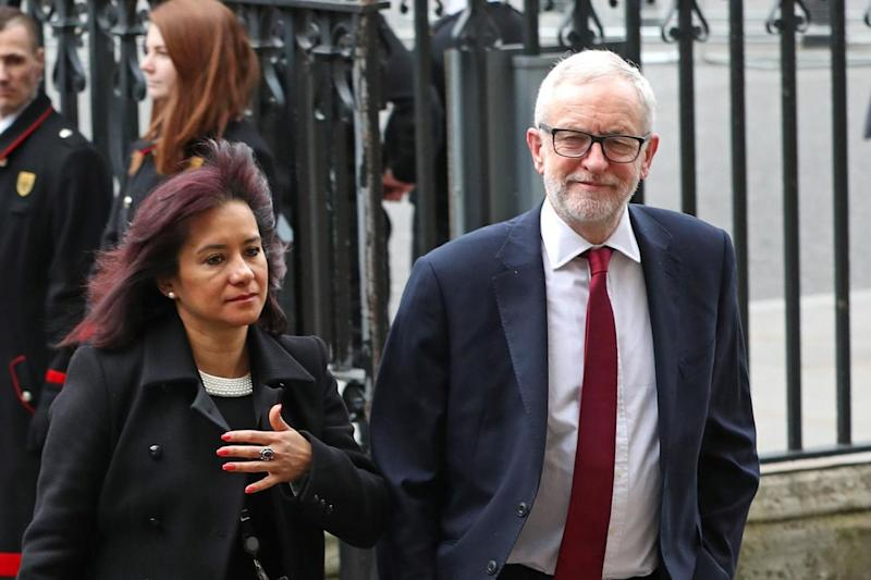 Jeremy Corbyn alongside his wife, Laura Alvarez. She recently defended the out-going Labour leader's legacy in a surprise intervention (PA)