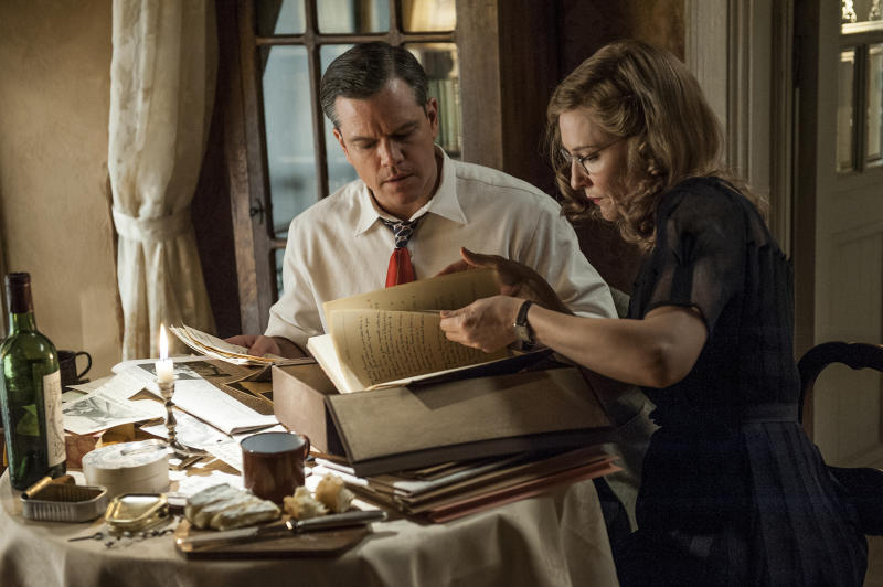 """Matt Damon and Cate Blanchett in Columbia Pictures' """"The Monuments Men"""" - 2014"""