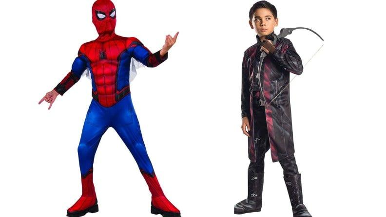 Bring your favorite Marvel superheroes to life with Spiderman and Hawkeye costumes.
