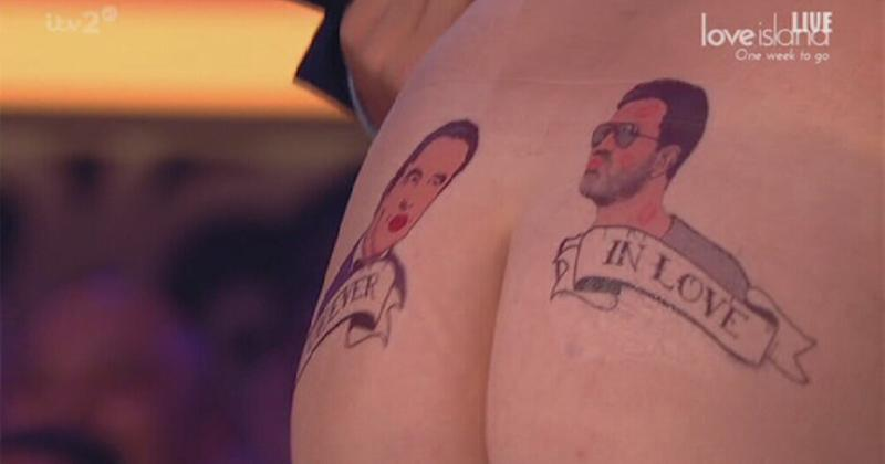 The comedian revealed a 'tattoo' of him and Simon Cowell on his bottom (Photo: ITV)