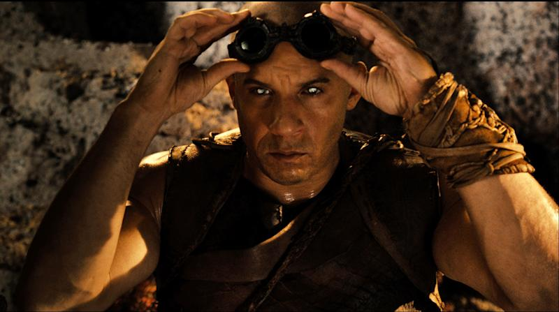 "This film image released by Universal Pictures shows Vin Diesel in a scene from ""Riddick."" (AP Photo/Universal Pictures)"