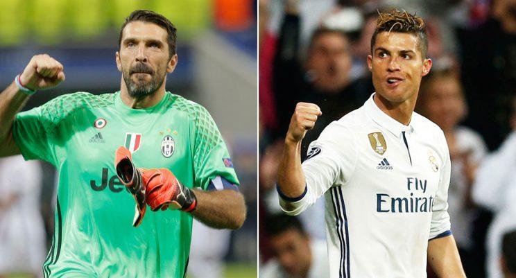 Gianluigi Buffon and Cristiano Ronaldo