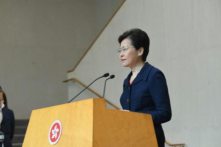 """Embattled Hong Kong leader Carrie Lam recognised the """"largely peaceful"""" nature of a huge peaceful rally on Sunday, which organisers said drew 1.7 million people"""