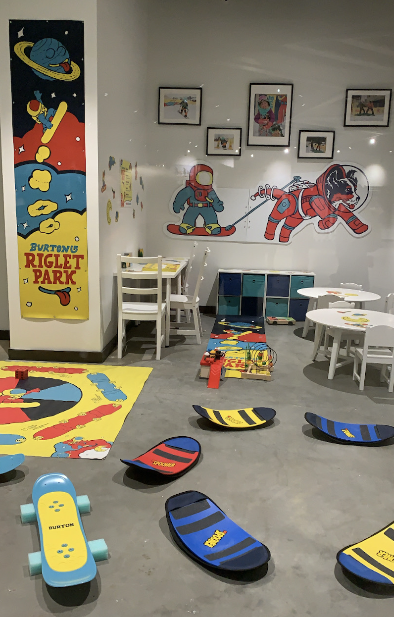 Pictured is the children's play center. Snow tubing and lessons will eventually open. (Photo credit: Kristen Despotakis/Yahoo Finance)