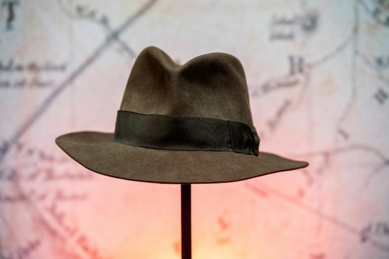 """The custom-made hat worn by Harrison Ford in 1984 action classic """"Indiana Jones and the Temple of Doom"""" will go on sale in Hollywood from June 29, with an estimate of $150,000-$250,000"""