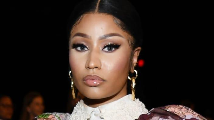 An official from the White House denied it extended an offer to rap star Nicki Minaj (above) to come in person to speak with someone about the efficacy of coronavirus vaccines. (Photo by Dimitrios Kambouris/Getty Images for Marc Jacobs)