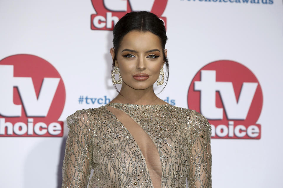 TV Reality personality Maura Higgins poses for photographers on arrival at the TV Choice Awards in central London on Monday, Sept. 9, 2019. (Photo by Grant Pollard/Invision/AP)