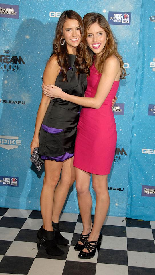 """<a href=""""http://movies.yahoo.com/movie/contributor/1809815483"""">Nina Dobrev</a> and <a href=""""http://movies.yahoo.com/movie/contributor/1809907387"""">Kayla Ewell</a> at the 2009 Spike TV Scream Awards in Los Angeles - 10/17/2009"""