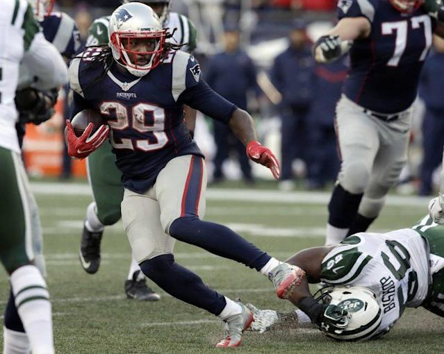 LeGarrette Blount ranked 80th on the NFL's list of top 100 players in 2016. (AP)