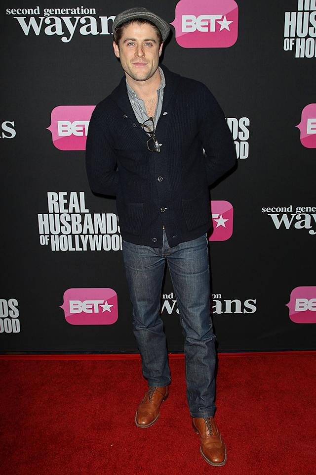 "Jonny Abrahams arrives at the screenings of BET Networks' ""Real Husbands of Hollywood"" and ""Second Generation Wayans"" held at the Regal Cinemas L.A. Live on January 8, 2013 in Los Angeles, California."