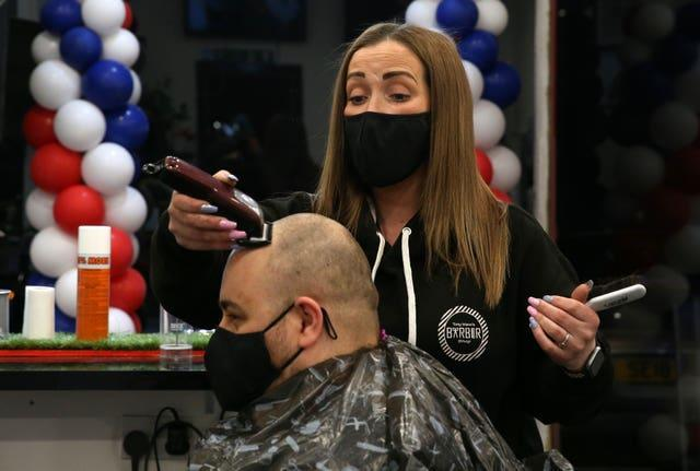 Barbers returned on April 5