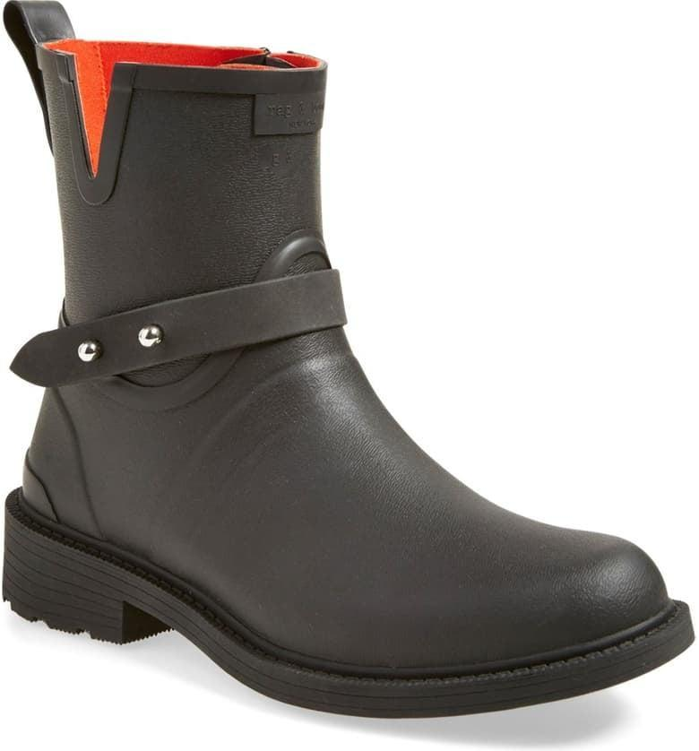 <p>These <span>Rag &amp; Bone Moto Rain Boots</span> ($225) look just like classic motorcycle boots. When you want to toughen up your look a bit, go with these.</p>
