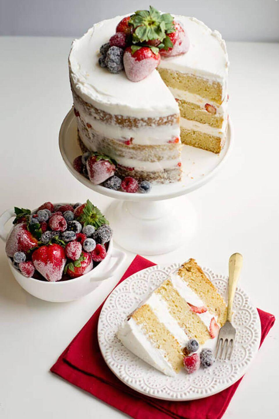"""<p>Mom's love Pinterest — and naked cakes are the latest and greatest Pinterest find. </p><p><em><a href=""""https://ashleemarie.com/naked-cake-candied-sugared-berries/"""" rel=""""nofollow noopener"""" target=""""_blank"""" data-ylk=""""slk:Get the recipe from Ashlee Marie »"""" class=""""link rapid-noclick-resp"""">Get the recipe from Ashlee Marie »</a></em></p>"""