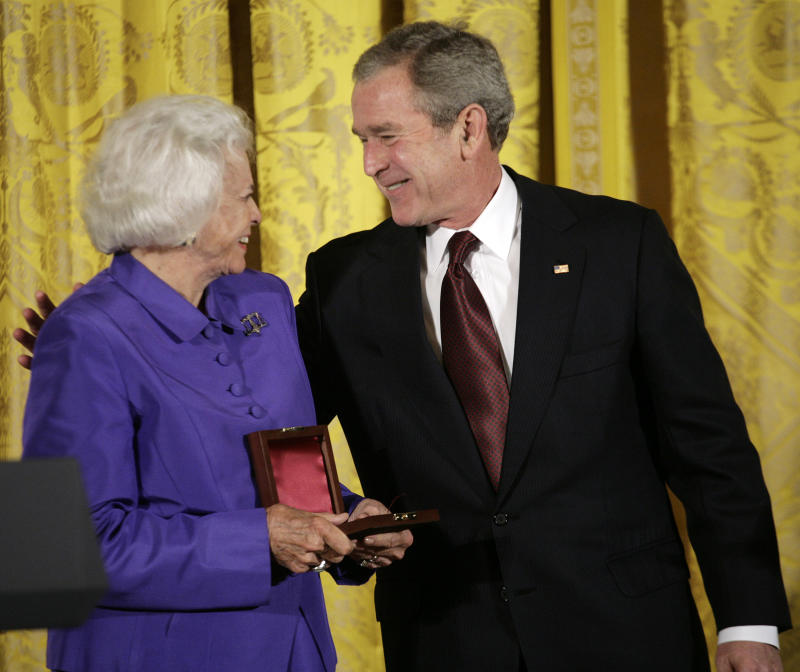 George W. Bush and Sandra Day O'Connor