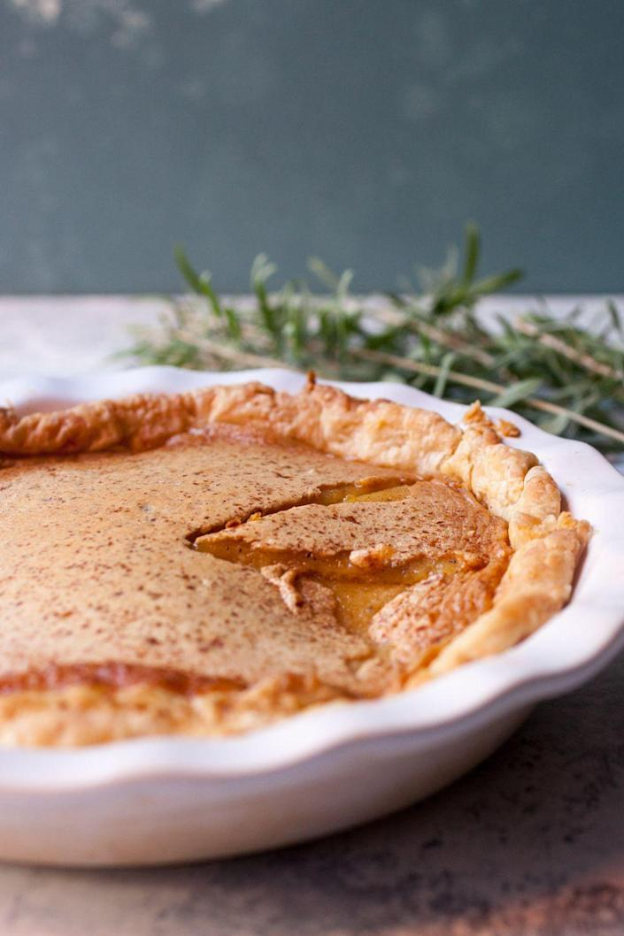 """<p>Does it get any more Spring than lavender pie?</p><p>Get the recipe from <a href=""""http://www.macheesmo.com/lavender-honey-pie/"""" rel=""""nofollow noopener"""" target=""""_blank"""" data-ylk=""""slk:Macheesmo"""" class=""""link rapid-noclick-resp"""">Macheesmo</a>.</p>"""