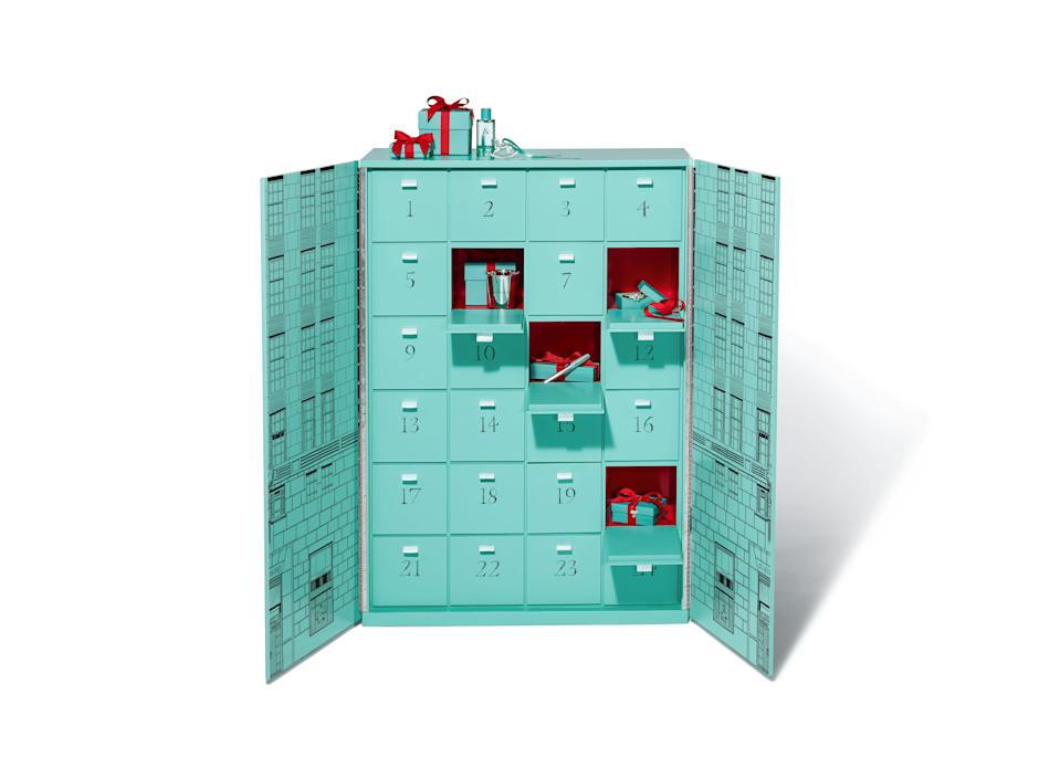 "<h3><a href=""https://www.tiffany.com/gifts/"" rel=""nofollow noopener"" target=""_blank"" data-ylk=""slk:Tiffany & Co. Very, Very Tiffany Advent Calendar"" class=""link rapid-noclick-resp"">Tiffany & Co. Very, Very Tiffany Advent Calendar</a></h3><br>For a cool $112,000, this Tiffany Blue calendar can be yours — or gifted to a very,<em> very</em> lucky friend. The treasure trove of jewelry features 24 days of sparkly delights, ranging from a Tiffany T True bracelet in 18k yellow gold to a rose gold Tiffany Smile pendant accented with diamonds."