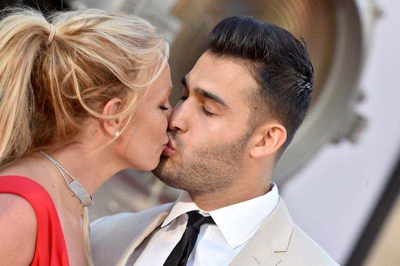 Britney Spears and Sam Asghari pictured together in July 2019. (Photo: Axelle/Bauer-Griffin/FilmMagic)