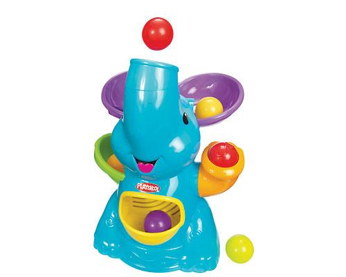 <b>Poppin' Park Elefun Busy Ball Popper by Playskool</b><br><br>Get silly with poppin', droppin' coloured balls and a fun elephant pal. Once the balls pop out of the elephant's trunk, it's anybody's guess which way they'll roll - into the belly for put-and-take play, across the room for baby to crawl after, or back through the trunk for more poppin' surprises. With 10 fun tunes to play and this elephant's trunk controlling the poppin' direction, the play is exciting, engaging and, most of all, fun. Adult assembly required. Suggested price $39.99, recommended age 9 to 24 months.