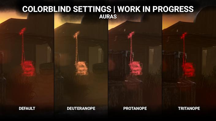 Colorblind modes in Dead by Daylight