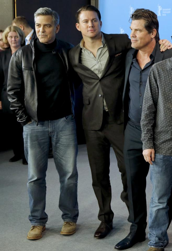 Actors Tatum Clooney and Brolinpose during photocall at 66th Berlinale International Film Festival in Berlin