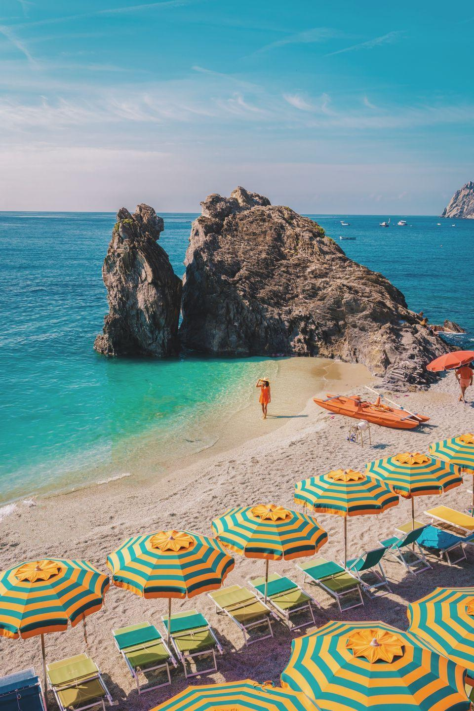 <p>Home to the Cinque Terre's only sand beach, Monterosso al Mare is <em>the</em> spot to post up for a long day of sunbathing on the Italian Riviera.</p>