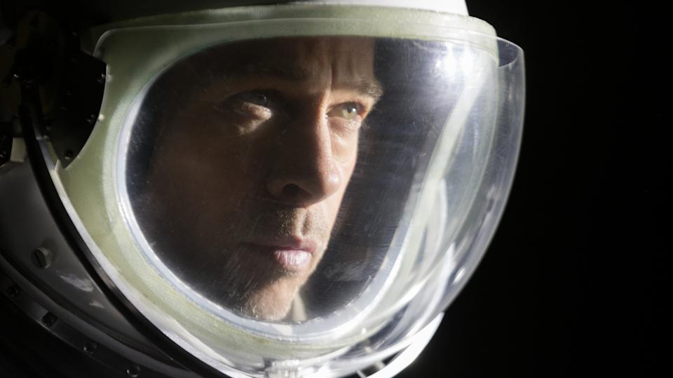 Brad Pitt dons his space helmet in James Gray's space movie 'Ad Astra'. (Credit: 20th Century Fox)